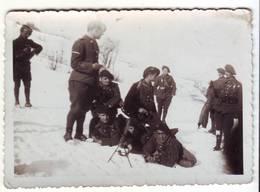 PHOTO - Chasseurs Alpins - Manoeuvre D'hiver Au Col Bayard - Ft - 6 X 9cm - Guerre, Militaire