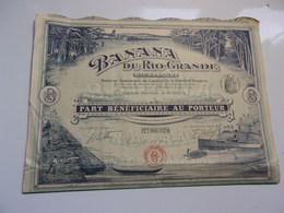 BANANA DU RIO GRANDE (nicaragua) Part Bénéficiaire - Actions & Titres