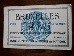 L18/96 Buvard. Exposition Universelle Et Internationale .1935. Bruxelles - Blotters