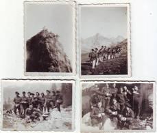 LOT DE 4 PHOTOS - Chasseurs Alpins - Manoeuvre D'hiver - Ft - 6 X 9cm - Guerre, Militaire