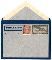 INDOCHINE Entier Aéro. 37 C. Vert Avec Complément RARE - ACEP PA EN5 Cote 210 € - Briefe U. Dokumente