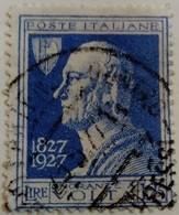 Italie Italy Italia 1927 Physicien Physicist Fisico Volta Yvert 199 O Used Usato - 1900-44 Victor Emmanuel III.