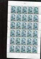 Belgie 1974 1704 Albert I Monarchie Full Sheet Mnh Plaatnummer 2 (margin Folds) - Feuilles Complètes