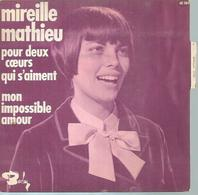 """45 Tours SP - MIREILLE MATHIEU  - BARCLAY 61189  """" MON IMPOSSIBLE AMOUR """" + 1 - Autres - Musique Française"""