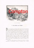 344 E.T.Compton Triglav Veldes Trenta Artikel Mit 11 Bildern 1896 !! - Historische Dokumente