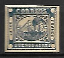 BUENOS AIRES   -    1858 .  Y&T N° 1 (*) .  Bateau à Vapeur. - Buenos Aires (1858-1864)