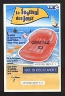 Grattage FDJ - FRANCAISE DES JEUX - FESTIVAL DES JEUX 49701 Non Gratté - Billets De Loterie