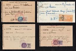 MONACO (Office Des Téléphones) Lot Exceptionnel De 6 Documents Du Service Téléphonique De Monaco Avec Des Timbres ...... - Téléphone