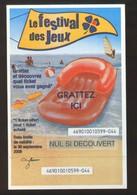 Grattage FDJ - FRANCAISE DES JEUX - FESTIVAL DES JEUX 46901 Non Gratté - Billets De Loterie