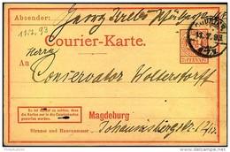 MAGDEBURG: 2 1/2 Pfg. Courier Ganzsachenkarte Gelaufen 1893 - Poste Privée