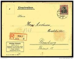 Germania, 1912, Einschreiben, Einzelfrankatur, BERLIN C 2 - Alemania