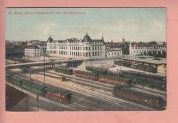 OUDE POSTKAART ZWITSERLAND  -  SCHWEIZ -   SUISSE -     BASEL - BAHNHOF - BS Bâle-Ville
