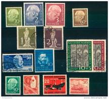 BUND/BERLIN: Kleine Briefmarkenpartie Mit Spitzenwerten Postfrisch, Gestempelt - Timbres