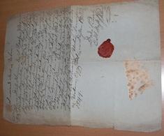 Original Dokument Handschriftlich Aus Dem Jahr 1849 Mit Roten Siegel, Größe Ca.39 X 27 Cm, Gefaltet ... - Historische Dokumente