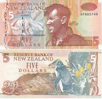 New Zealand - 5 Dollars 1992 UNC Pick 177 Lemberg-Zp - Nieuw-Zeeland