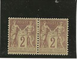 TYPE SAGE N° 85 PAIRE NEUF CHARNIERE - ANNEE 1877 - COTE : 30 € - 1898-1900 Sage (Type III)