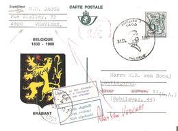 EP.C.Illust. N° 39 - 03 Brabant + C;m; P.013 Du 01/0/1983 V/EUPEN Retour-Non Réclamé TRILINGUES V/Vervier - Stamped Stationery