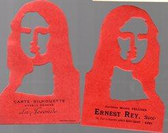 Agen (47 Lot Et Garonne) Carte-silhouette LA JOCONDE  Offert Par ERNEST REY (PPP17572 ) - Autres