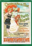 REPRODUCTION En Carte Postales Des Affiches CHEMINS DE FER DE L'ETAT - PARIS ROYAN  état Impeccable - Chemins De Fer
