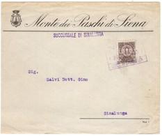 YN118   Regno 1933 Recapito Autorizzato 10c Su Busta Monte Paschi Succursale Sinalunga - 1900-44 Vittorio Emanuele III