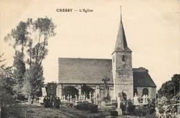 CPA 76 Seine Maritime Inférieure Cressy L'Eglise Cimetière Procession - Sonstige Gemeinden