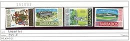 Barbados - 255-258 - * Falz/charn. - Barbados (1966-...)
