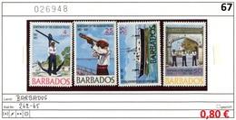 Barbados - 262-265 - * Falz/charn. - Barbados (1966-...)