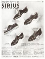 "PUB  CHAUSSURES "" SIRIUS ""  1931 ( 1 ) - Advertising"