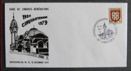 FRANCE - 1979 - CINQUENTENAIRE DE LA GARE DE LIMOGES - Marcophilie (Lettres)