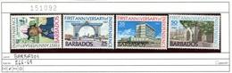 Barbados - 266-269 - * Falz/charn. - Barbados (1966-...)