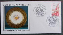 FRANCE - 1980 - L ART DE LA PORCELAINE - LIMOGES 87 - Postmark Collection (Covers)