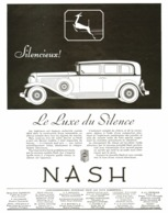 "PUB VEHICULES  "" NASH  "" 1931  ( 1 ) - Transportation"