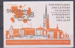Sweden 1998 Stockholm European City Of Culture Booklet ** Mnh (42140) - Boekjes