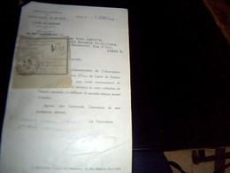 Vieux Papier Scolaire DATÈ DE  1958? Association Parisienne Des Anciens èlèves Du  Lycèe De Nantes Lettre Document - Non Classés