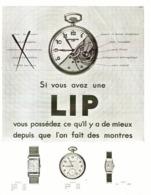"PUB MONTRES  "" LIP  ""    1931 ( 3  ) - Jewels & Clocks"