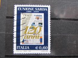 *ITALIA* USATO 2009 - 120° UNIONE SARDA - SASSONE 3121 - LUSSO/FIOR DI STAMPA - 6. 1946-.. Repubblica