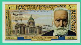 5 Nouveaux Francs - France - Victor Hugo - Type 1959 - N° N.33/66588 - C.4-2-1965.C. - TTB+ - - 5 NF 1959-1965 ''Victor Hugo''