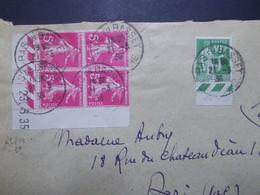 Marcophilie  Cachet Lettre Obliteration - Coin Date Sur Lettre 1936 (2264) - 1921-1960: Période Moderne