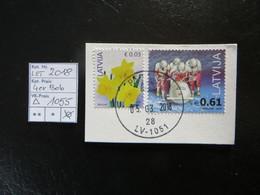 "2018  "" 2 Werte "" Auf Ausschnitt, Sauber Gestempelt LOT 1055 - Lettland"