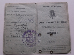 Carte D'Identité De Belge OUGREE ( Ougrée ) 1963 ( LATINNE Marie 13 Nov 1898 Weduwe Van Godefridis ) Dec. '79 ! - Oude Documenten