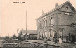 ! 02 Jussy Aisne, La Gare, Bahnhof - France