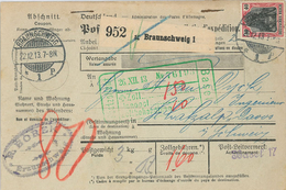 Paketkarte Nach Davos Schatzalp Sanatorium Mann Zauberberg Von Borek Braunschweig Basel Badischer Basel 1913 - Briefe U. Dokumente