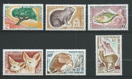 COTE DES SOMALIS 1962 . Série N°s 305 à 310 . Neufs ** (MNH) - Neufs