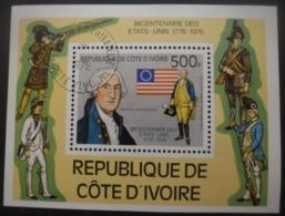 Cote D'Ivoire Bloc N°6 GEORGE WASHINGTON Oblitéré - George Washington