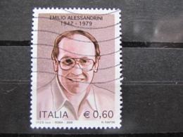*ITALIA* USATO 2009 - 30° EMILIO ALESSANDRINI - SASSONE 3118 - LUSSO/FIOR DI STAMPA - 6. 1946-.. Repubblica