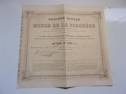 MINES DE LA PORCHERE (1865) Saint étienne,loire - Non Classés