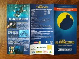 Publiciteitsfolder : Kuifje - De Zonnetempel - De Musical - Advertising
