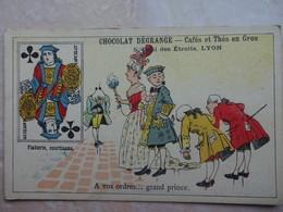 Chromo LYON Chocolat DEGRANGE - Carte à Jouer Valet Trêfle - Chocolat