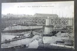 CPA 29 BREST - Pont National Et Boulevard Thiers - Edit. J D 14 - Réf. Y 130 - Brest