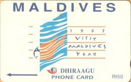Maldives - GPT, Visit Maldives 1997, Advertisement, 68MLDB, 2/00, Used - Maldiven
